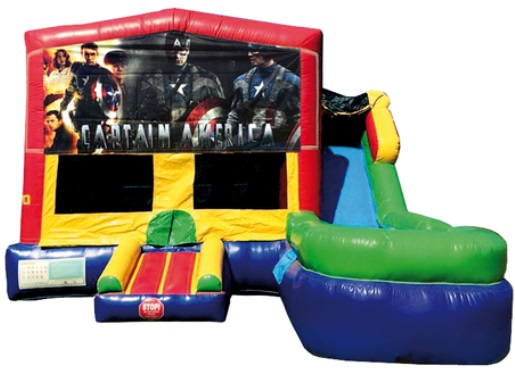 Captain America Bounce House/Water Slide Rentals in Worcester MA