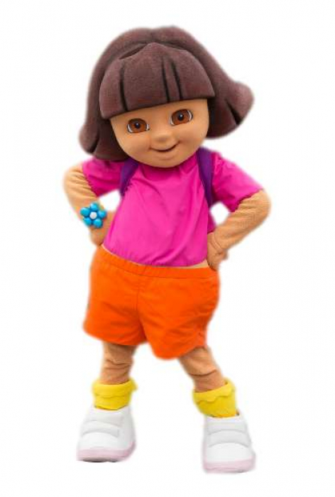 Nickelodean Dora The Explorer Halloween Costume/Mascot Suit Rentals in Worcester/Boston, Massachusetts