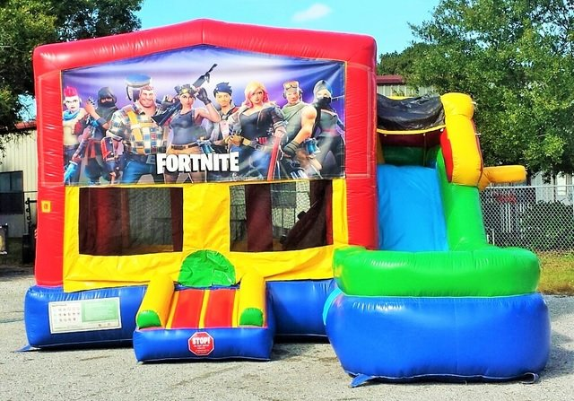 Fortnite Inflatable Bouncer/Water Slide Rentals in Worcester, Massachusetts 01603