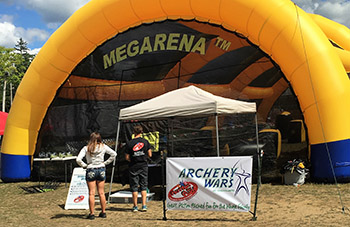 Inflatable Mega Arena Rentals For Paintball, Laser Tag and Archery Wars Tournaments and Party Game Rentals in Berlin, Massachusetts.