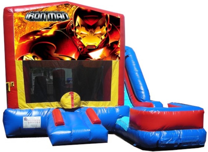 Iron Man Bounce House Water Slide Rentals in Worcester, Massachusetts
