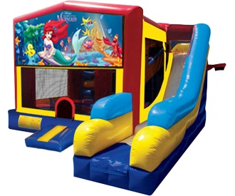 Little Mermaid Bounce House Water Slide Rentals in Worcester MA & Leominster/Fitchburg MA