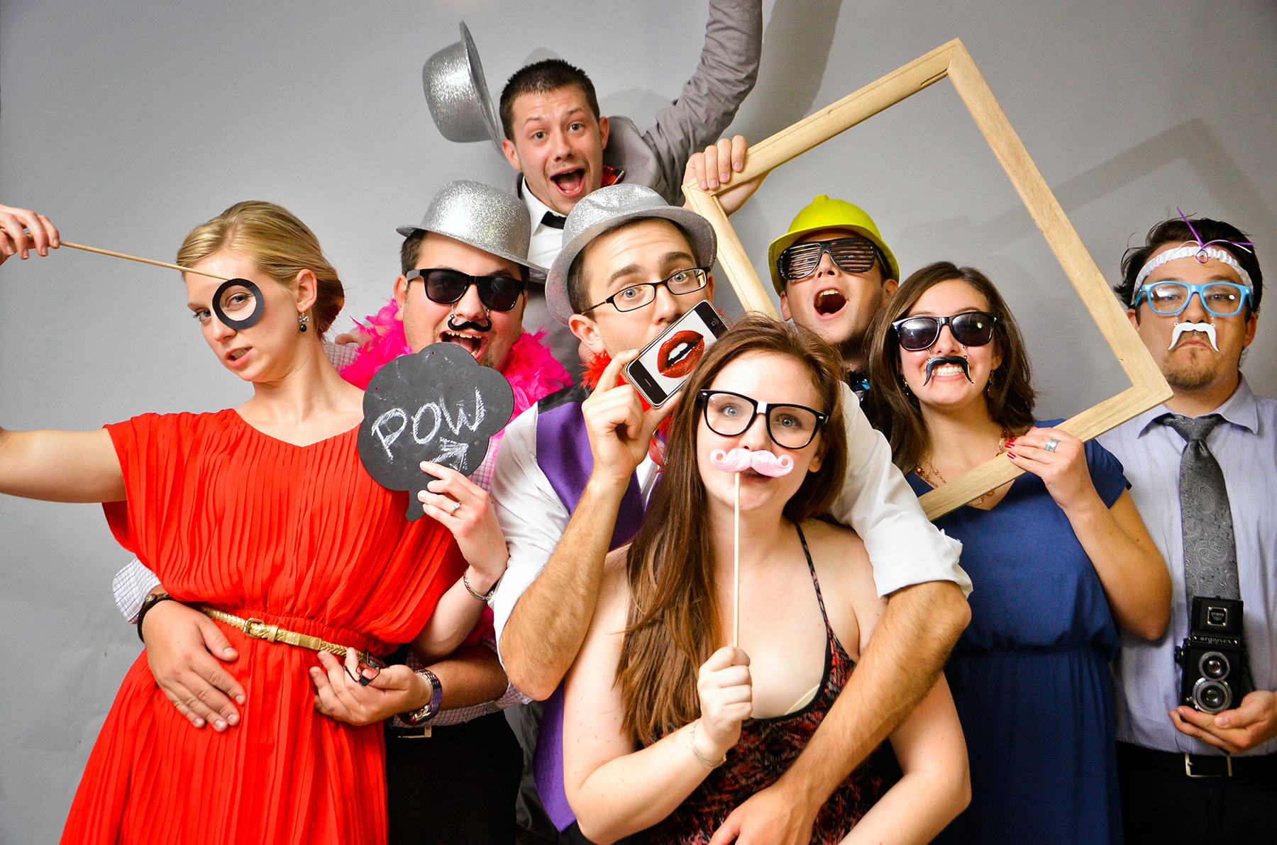MASS Photo Booth Rentals in Worcester County, Massachusetts With Funny Props