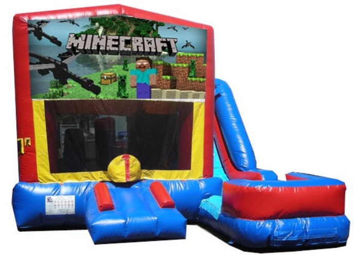 Minecraft Bouncy House/Water Slide Rentals in Worcester MA