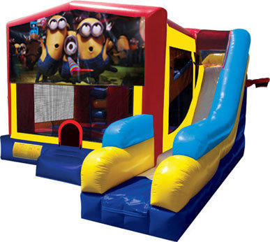 MASS Inflatable Bouncer Combo With Slide Rentals in Massachusetts.