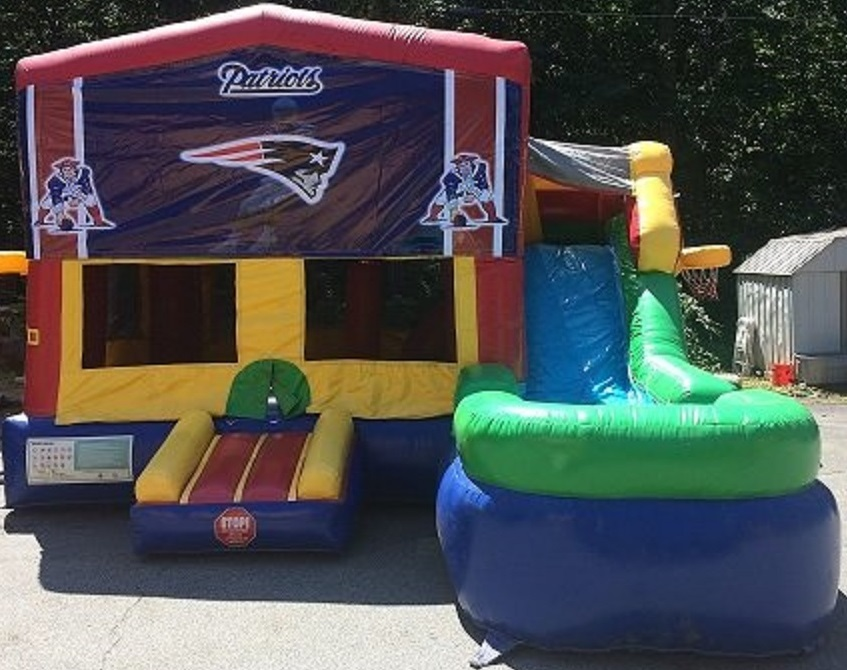 New England Patriots Inflatable Bounce House/Water Slide Rentals in Worcester MA