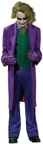 "Heath Ledger ""The Joker"" Halloween Costume Rentals in Worcester MA and Westborough, Northborough & Southborough MA"