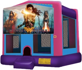 Wonder Woman/Justice League Moonwalk Bounce House Rentals in Massachusetts